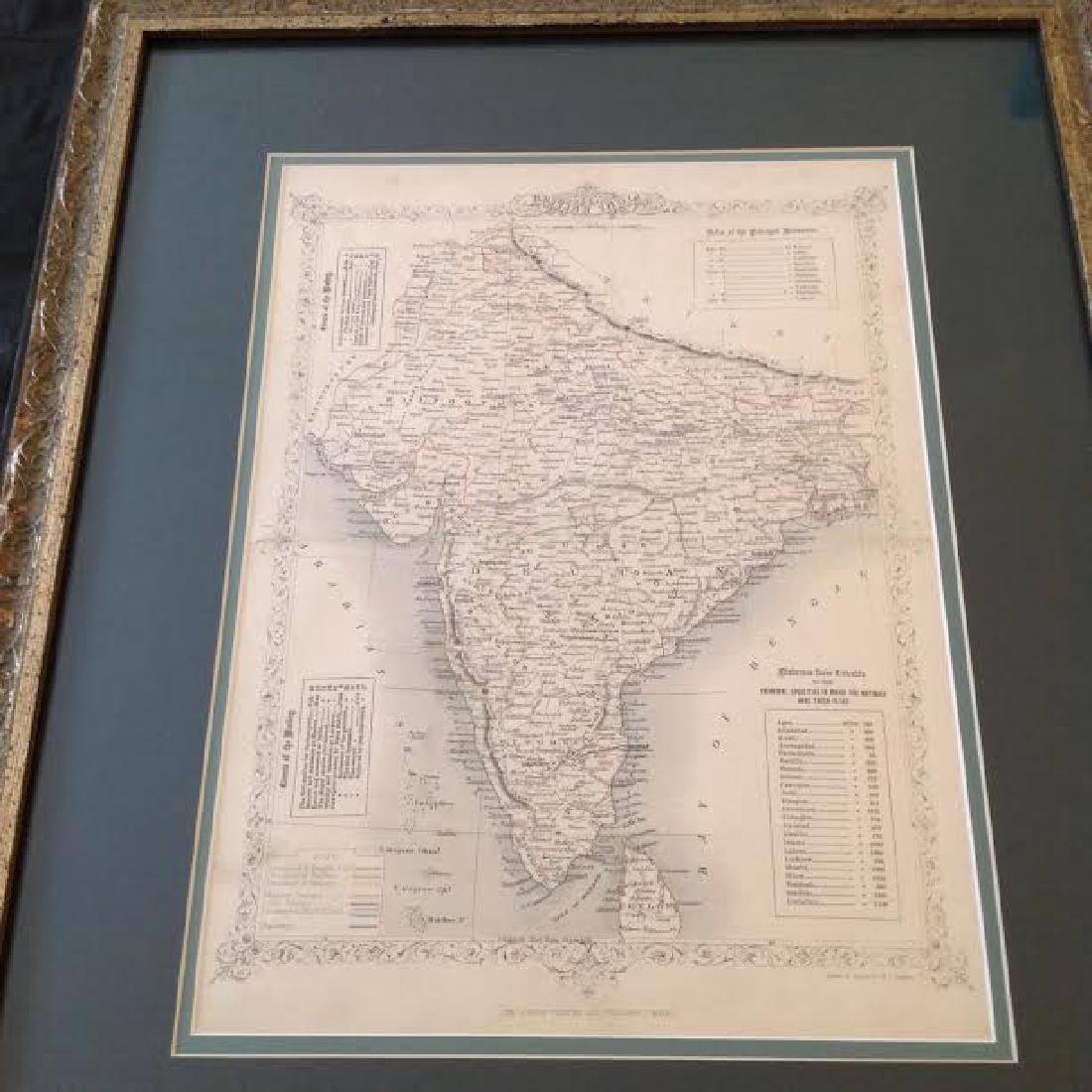 J Rapkin - Antique Map of British India - 2
