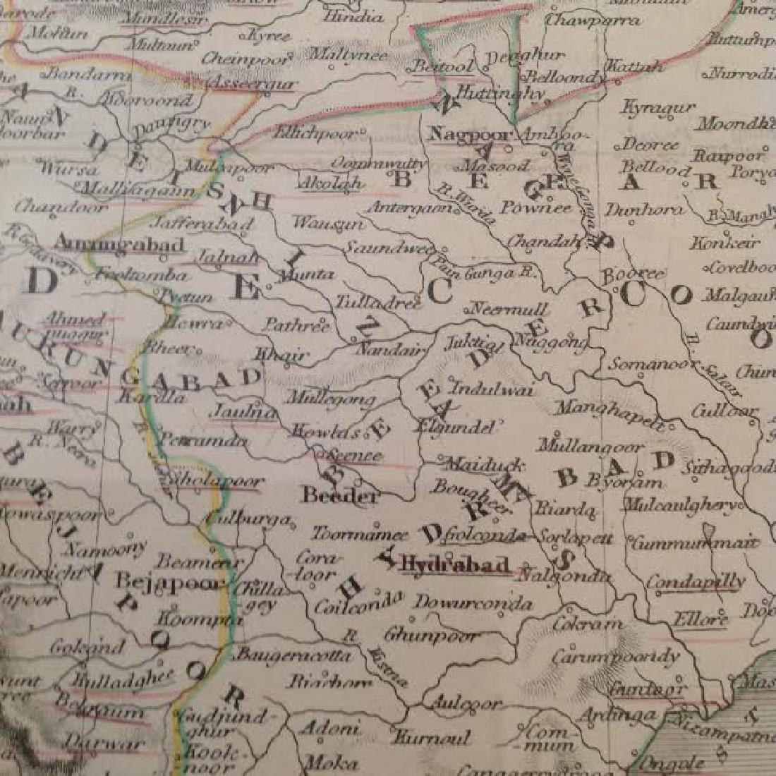 J Rapkin - Antique Map of British India - 3