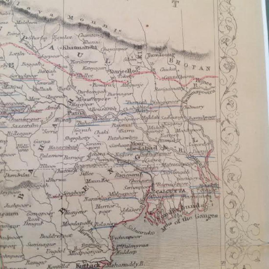 J Rapkin - Antique Map of British India - 9