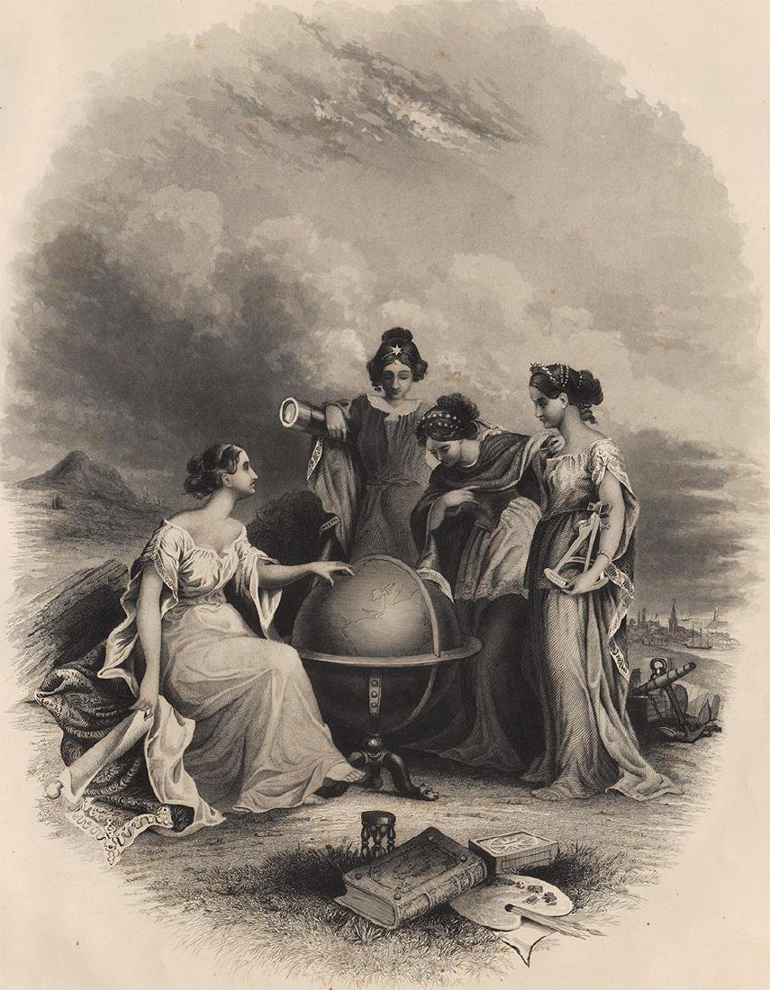 Frontispiece from Colton's Atlas of the World 1856