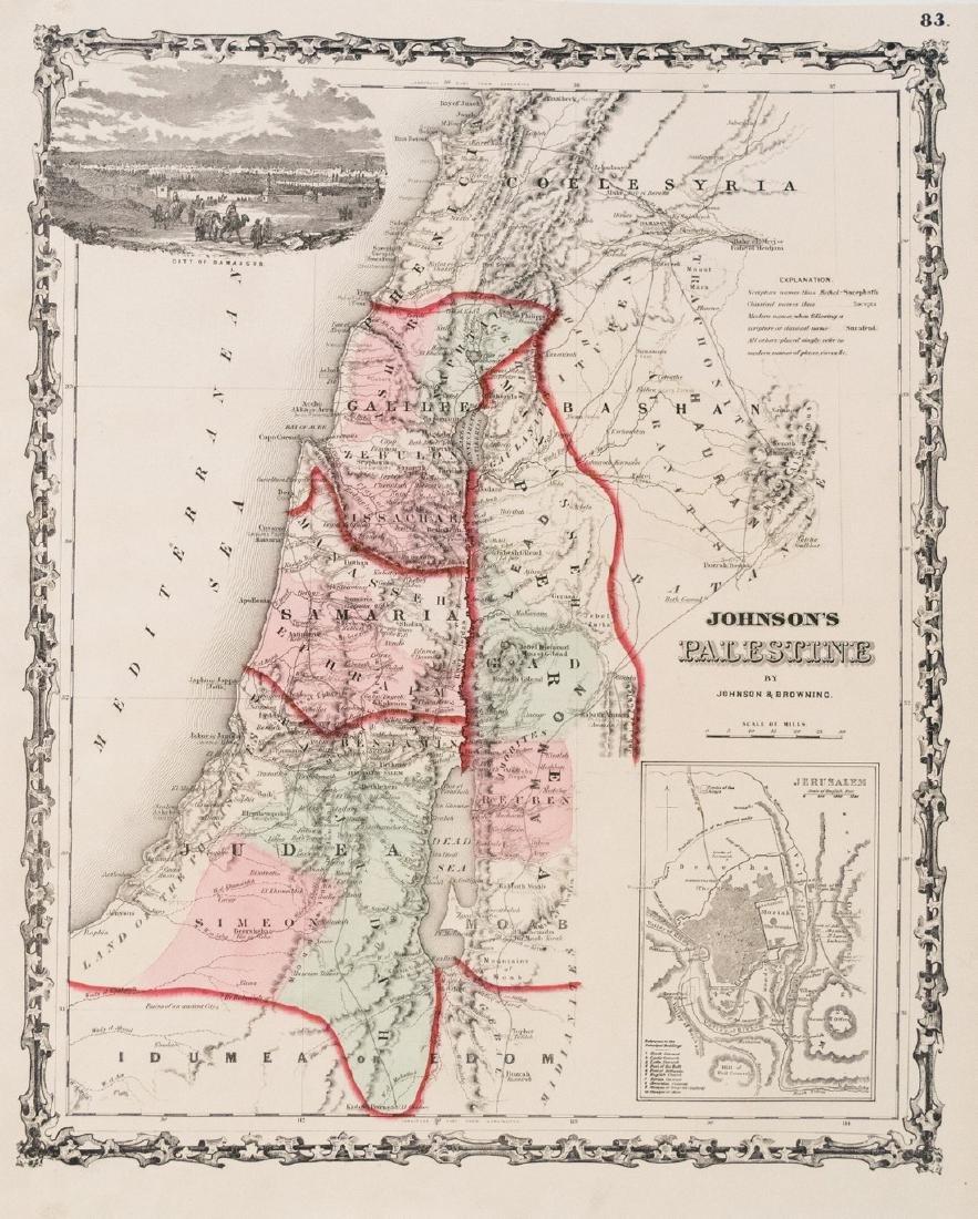 1861 Johnson's Map of Palestine