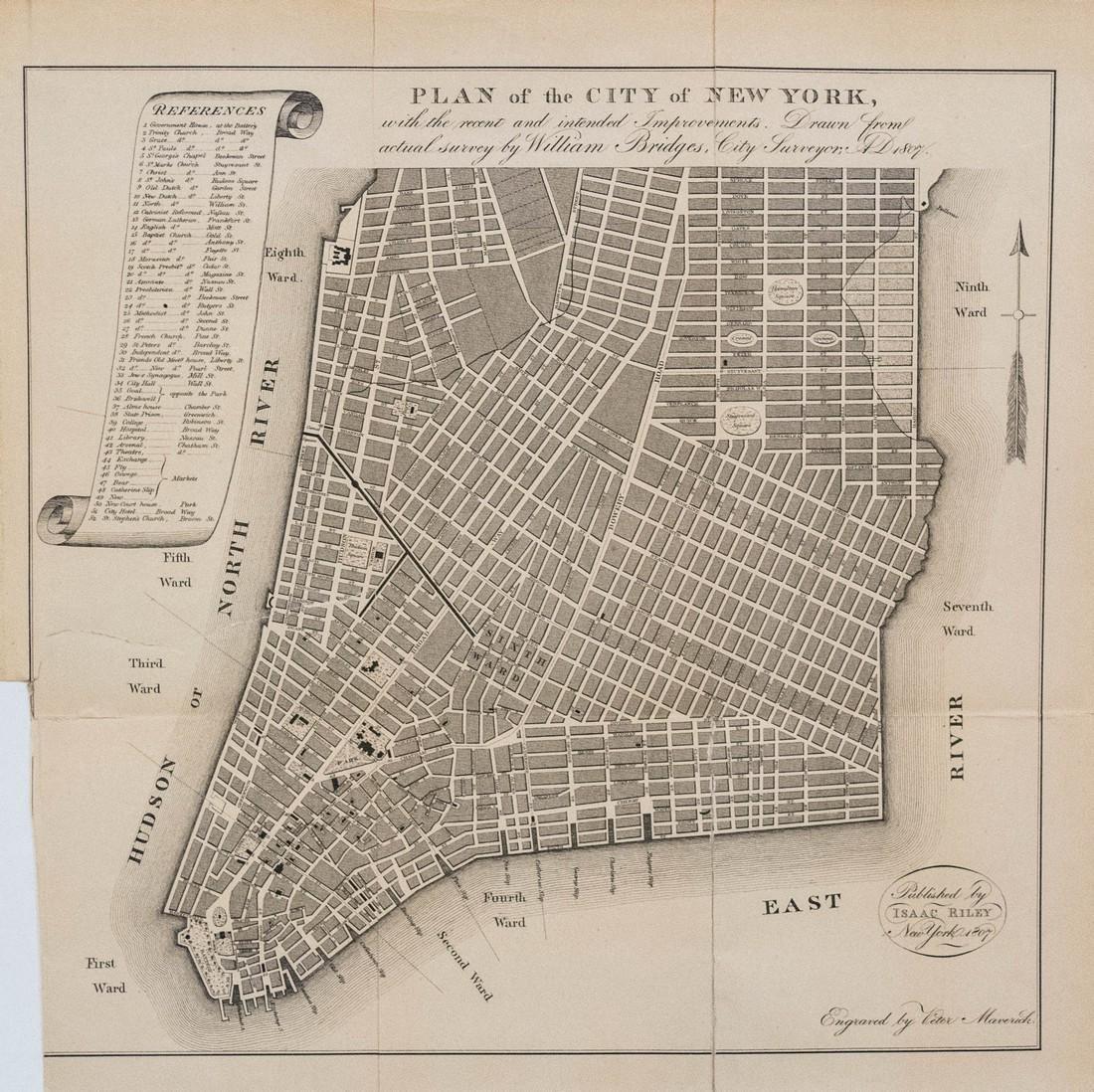 1870 Bridges Plan for New York City