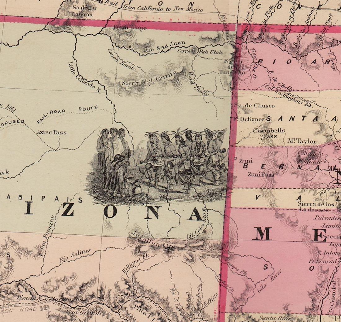 Scarce Map of Texas, New Mexico and Arizona - 2