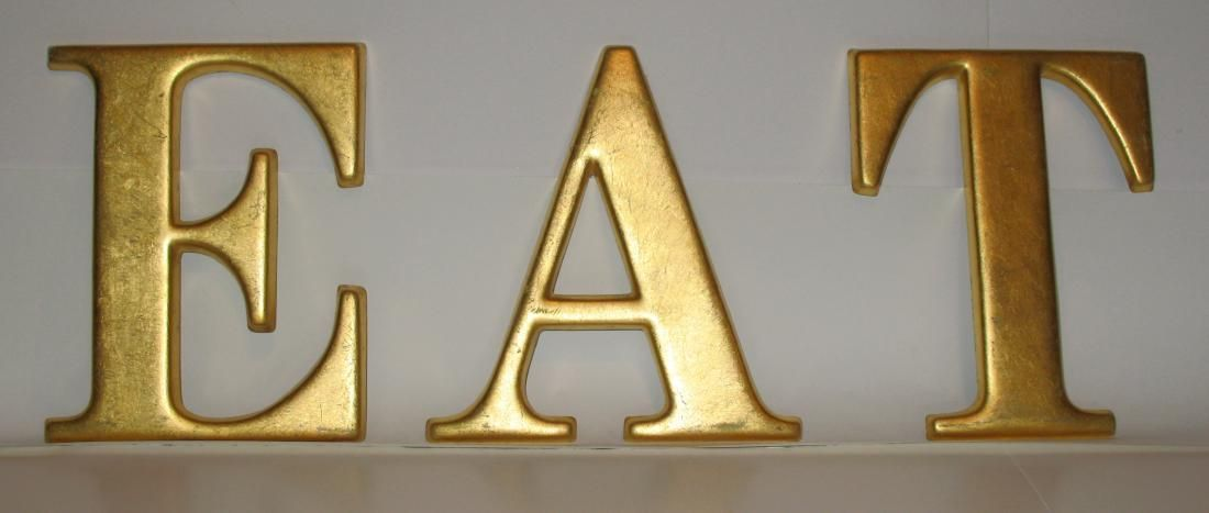 """""""EAT"""" Plastic Letters from Old Sign"""