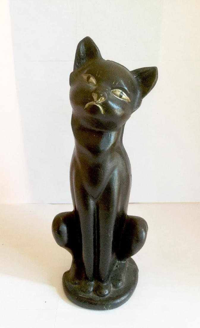 Hubley Black Cat Doorstop