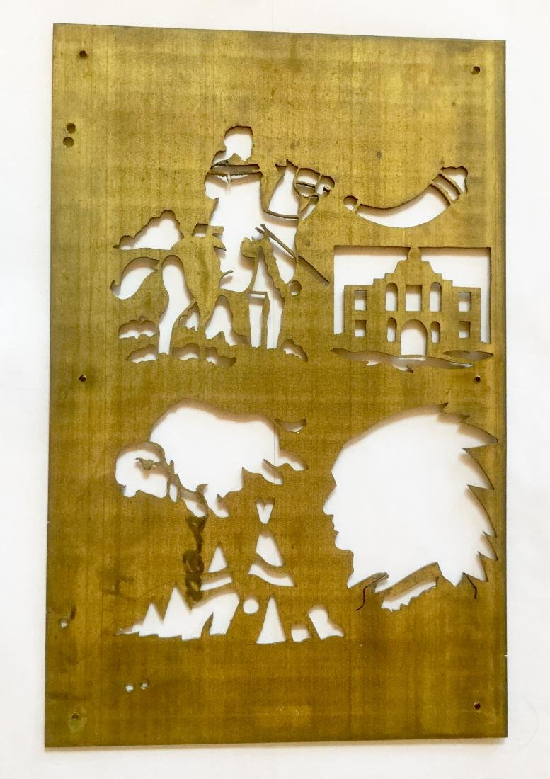 Brass Cowboy and Indian Stencil Plates - 3