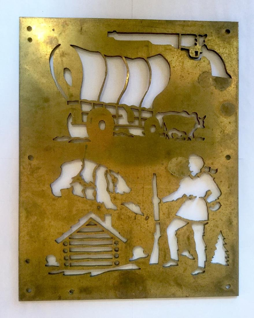 Brass Cowboy and Indian Stencil Plates - 4