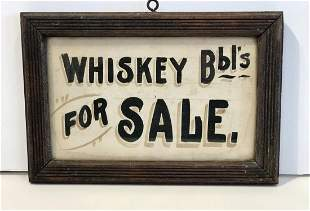 Whisky Bbl's FOR SALE Sign