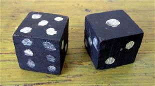 Oversized Painted & Carved Dice