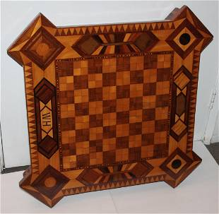 Amazing Monumental Inlaid HM Tabletop Game Board
