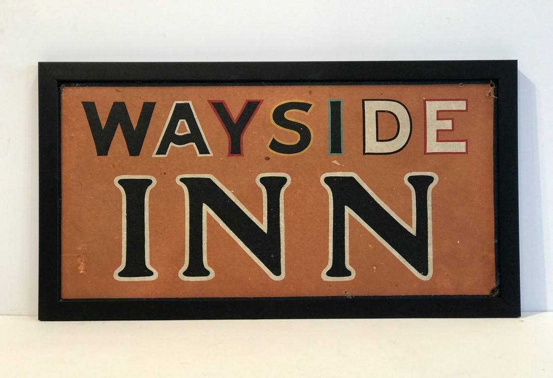 WAYSIDE INN Tavern Sign
