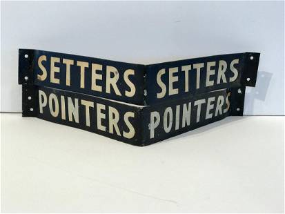 Pair Kennel Signs, POINTERS & SETTERS