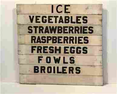 Farm Stand Market Set of 8 Signs
