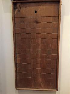 Hand Carved Checker Board