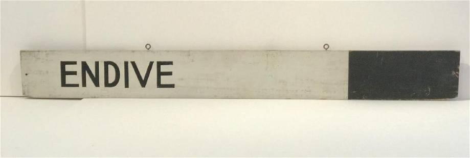 ENDIVE sign
