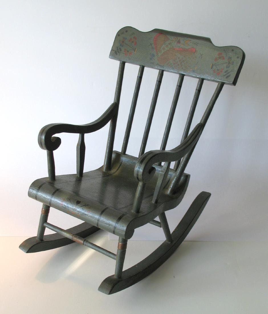 Miniature Plank Seat Armed Rocker