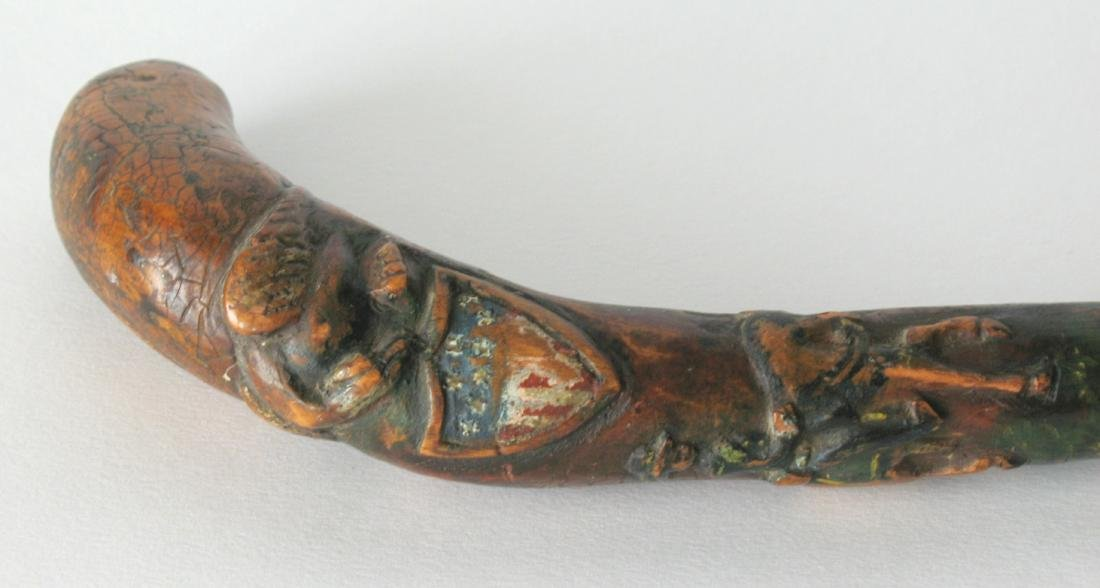 Civil War Officer's Folk Art Carved Cane - 5