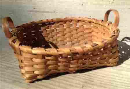 Splint Two Handled Basket