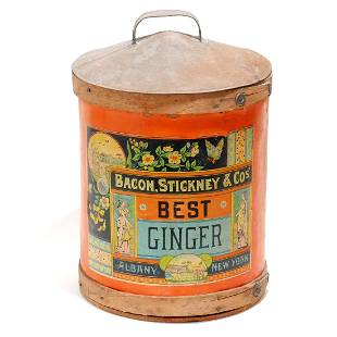 Antique Bacon Stickney & Co's Ginger Container