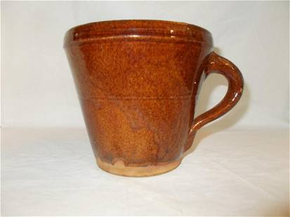 Redware Handled Cup
