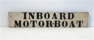 INBOARD MOTOR BOAT Sign
