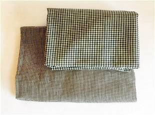 Early Blue and White Checkered Fabrics