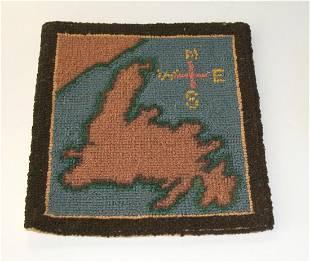 Miniature Grenfell Map of Newfoundland