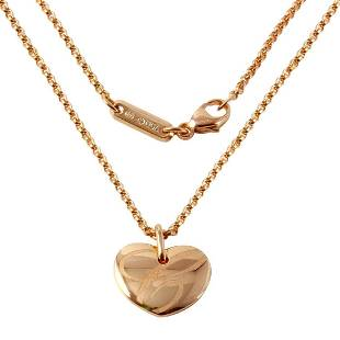 Chopard 18K Rose Gold Heart Necklace