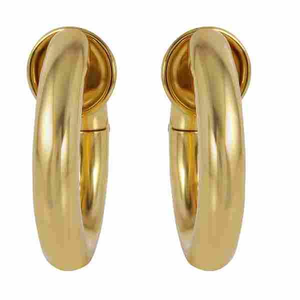 Pomellato 18K Yellow Gold Hoop Earrings