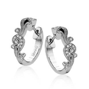 Simon G 18K Gold Diamond Vintage Explorer Earrings