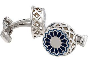 Montegrappa Sterling Silver Teatro Limited Cufflinks