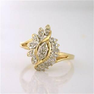 Vintage 14K Yellow Gold Diamond Ring, 1954