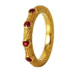Jane Bohan 18K Yellow Gold Ruby Ring, 0.32ctw