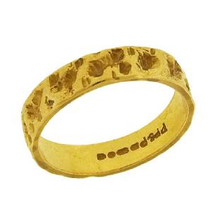 Textured 22K Gold Band Ring, 1967