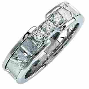 Tiffany & Co. 18K Gold Atlas Diamond Ring