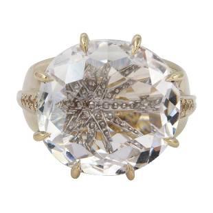 H Stern 18K Noble Gold Moonlight Diamond Ring, 10.12ctw