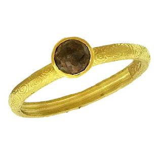 Alishan 18K Gold Rose-Cut Diamond Stack Ring