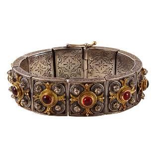 Konstantino Silver 18K Gold Tourmaline Bracelet