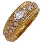 Boucheron 18K Gold Paris Diamond Ring