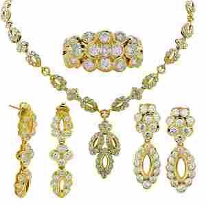 Mouawad 18K Gold Diamond 24ct Jewelry Set