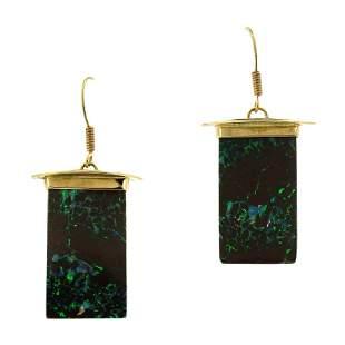 Patton 14K Gold Boulder Opal Drop Earrings