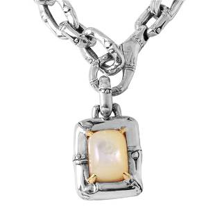 John Hardy Silver 18K Gold Mother of Pearl Necklace