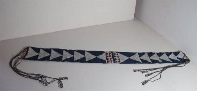 Zulu Beaded Belt on Muslin