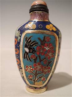Chinese Qing Dynasty Cloisonné Snuff Bottle