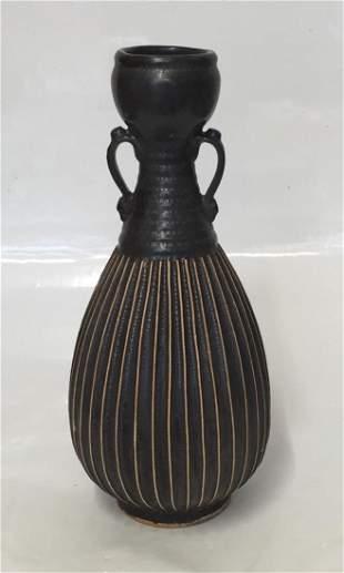 Chinese Black Glaze Vase, Song Thru Ming Period