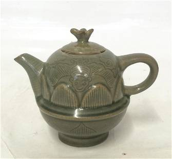 Chinese Green Glaze Teapot, Probably Song Period