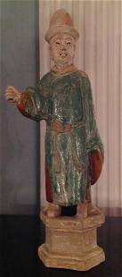Chinese Ming Dynasty Terracotta Man, 1644