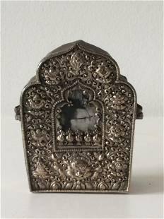 Tibetan Silver Copper Buddhist Gau