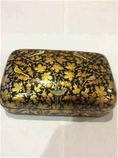 Indian Hand Decorated Wood Lacquer Box