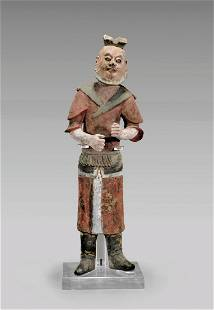 Chinese Tang Dynasty Painted Pottery Foreigner